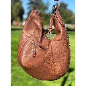 Lucky Brand Joan leather shoulder bag brown